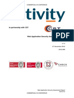 CST Web Application Testing Report