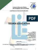 Antología.. Teoría Educativa  2012 (1)