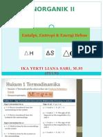 Kimia Anorganik II Entalpi,Entropi,Gibbs Iyls