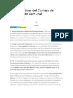 Características Del Consejo de Planificación Comunal