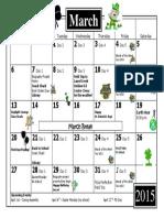grade 3 calendar march 2016