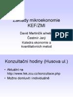 Základy Mikroekonomie - přednáška 1