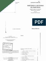 Sartori Giovanni_El Criterio Numerico_Partidos y Sistemas de Partidos