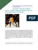 Discurso Alfredo Molano Doctor Honoris Causa