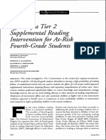 effects of a tier 2 supplemental reading intervention for at-risk fourth-grade studen
