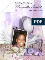 Funeral/Memorial Program Booklet Design