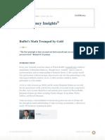 GoldMoney Insights Feb 2016 Buffets Math Trumped by Gold