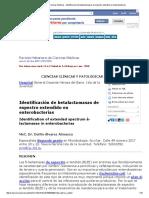 Identificación de Betalactamasas de Espectro Extendido en Enterobacterias