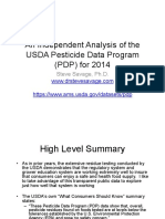 An Independent Analysis of the 2014 USDA Pesticide Detection Program Data