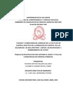 Causas y Consecuencias Jurídicas de La Falta de Un Control Efectivo en La Rendición de Cuientas en Las Diligencias de Declaratoria Judicial de Incapacidad y Nombramiento de Tutor