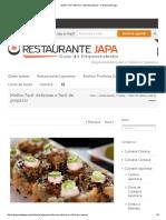 Molho Tarê_ Delicioso e Fácil de Preparar - Restaurante Japa