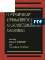 (Critical Issues in Neuropsychology) Theresa Incagnoli (Auth.), Gerald Goldstein, Theresa M. Incagnoli (Eds.)-Contemporary Approaches to Neuropsychological Assessment-Springer US (1997)