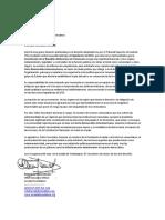 Carta al Secretario General de La OEA(1)