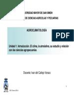 Agroclimatologia-unidad 1 Intro