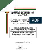Modelo Informe de Prácticas Preprofesionales Andrés Loja