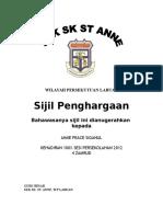 Sijil PSIJIL PENGHARGAAN SEKOLAH(KEHADIRAN 100%)2012.docenghargaan Sekolah(Kehadiran 100%)2012