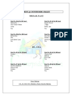 Menu Countryside Chalet Updated