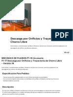 F1-17 _ Descarga Por Orificios y Trayectoria de Chorro Libre