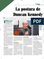 La Postura de Duncan Kennedy - Critical Legal Studies - La Gaceta Jurídica - La Paz - Bolivia