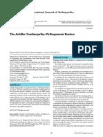 Patogenesis Aquiles Tendinopatia