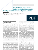 Diet & Nutrition in CA Preven