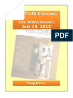 Analysis of July 15, 2013 Watchtower issue