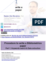 Procedure to write a Bibliometrics paper