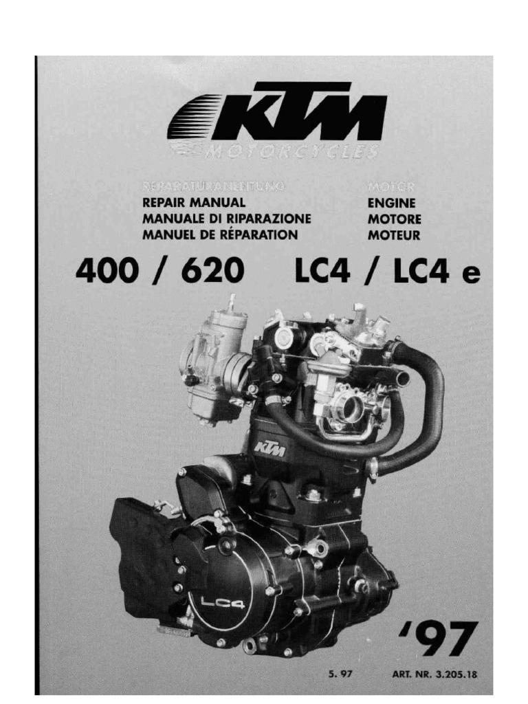reparaturanleitung 1997 motor ktm lc4 400 620 rh scribd com KTM RC 200 KTM 400 EXC Review