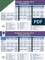 UTP Academic Calendar 2016