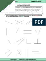 5to Grado - Matemáticas - Líneas y Ángulos
