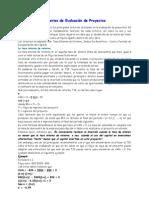 Criterios de Evaluacin de Proyectos