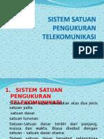 Sistem Satuan Pengukuran Telekomunikasi