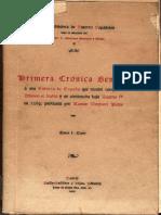 Primeira Cronica Geral Da Espanha Afonso o Sabio A