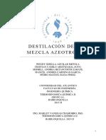 Destilacion de Una Mezcla Azeotropica