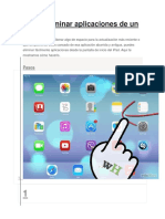 Desinstalar Aplicaciones en El iPad