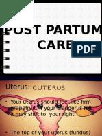 Post Partum Care 1