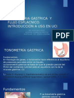 Tonometria Gástrica y Circulación Esplácnica e Introduccion a USG en UCI