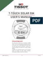 Tissot T-Touch Expert Solar Manual