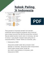 Merk Rokok Paling Laris Di Indonesia