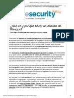 Analisis de Seguridad Que Es y Porque Hacerlo