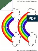 Rainbow Circle Time Numbers