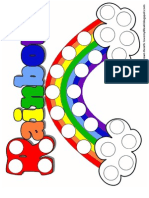 Rainbow Magnetic Pom Pom Page