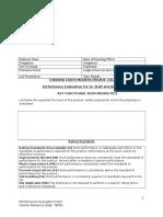 Appraisal Form for Staff Sr.staff