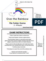Over the Rainbow File Folder Game