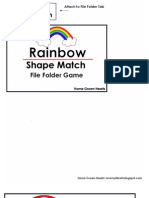 Rainbow Shape File Folder