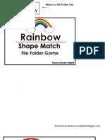 Rainbow Shape File Folder