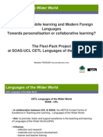 E-Learning, Mobile Learning and Modern Foreign Languages
