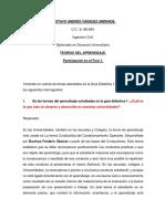Teorías de Aprendizaje aplicada a la enseñanza en la Universidad en Colombia.