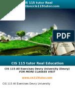 CIS 115 Tutor Real Education-cis115tutor.com
