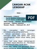 rancangan acak lengkap kelompok I (nurul aniam & santi zuhra).pptx